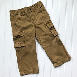 •Healthtex• twill camel cargo pants